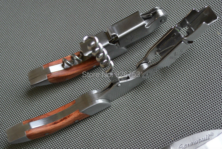 how to use a corkscrew with a lever
