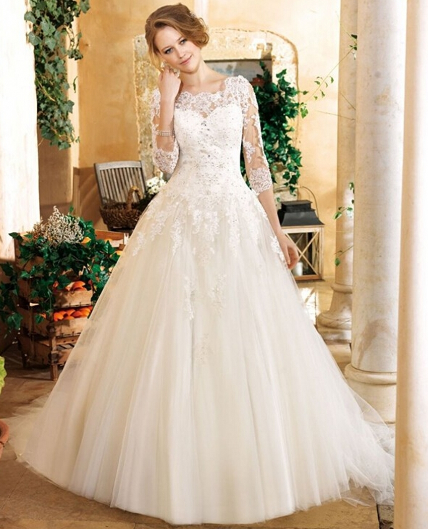 Buy elegant white beaded sequin tulle for Tulle wedding dress with sleeves