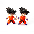 Dragon ball z Super Saiyan 3 Goku LED key chain with sound and light 2016 New