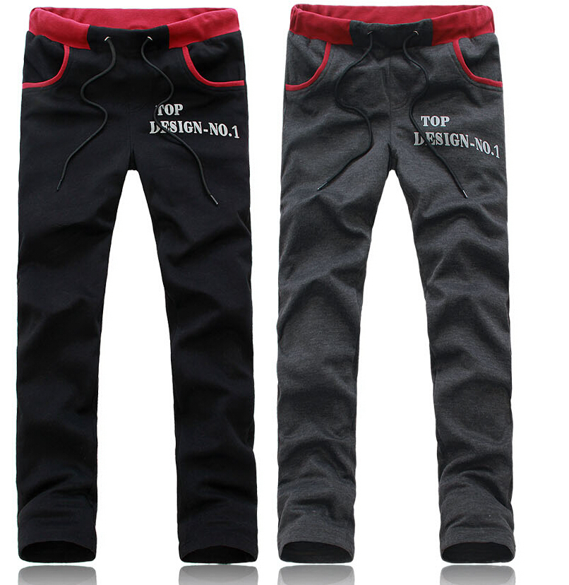 2015 Freeshipping Good Quality Men's Sports Pants Casual And Fashion Pants best Design Male Trousers sweatpants.(China (Mainland))