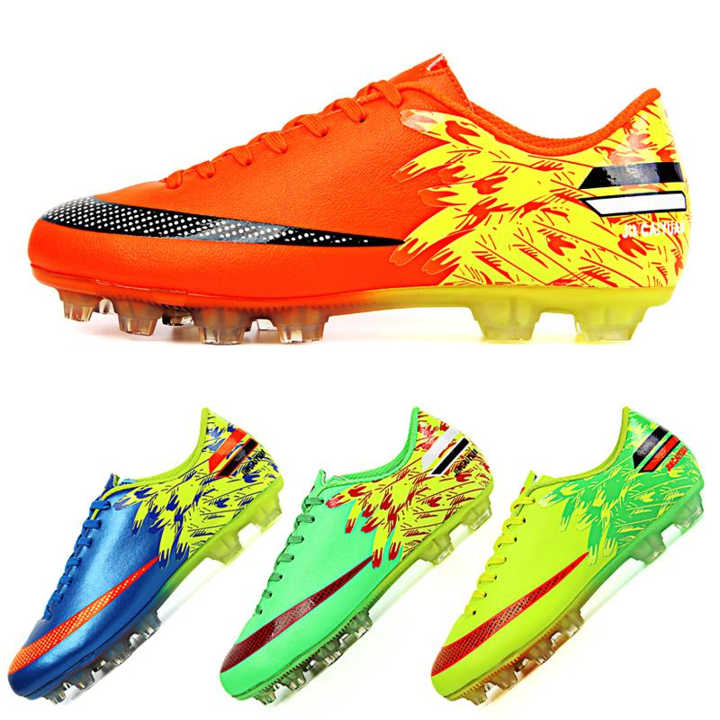 2015 NEW Men Soccer Boots Outdoor Football Boots Spikes Soccer Shoes FG Boy Kids Sport Sneakers Trainers 33~45 SIZE JCY-2019-1(China (Mainland))