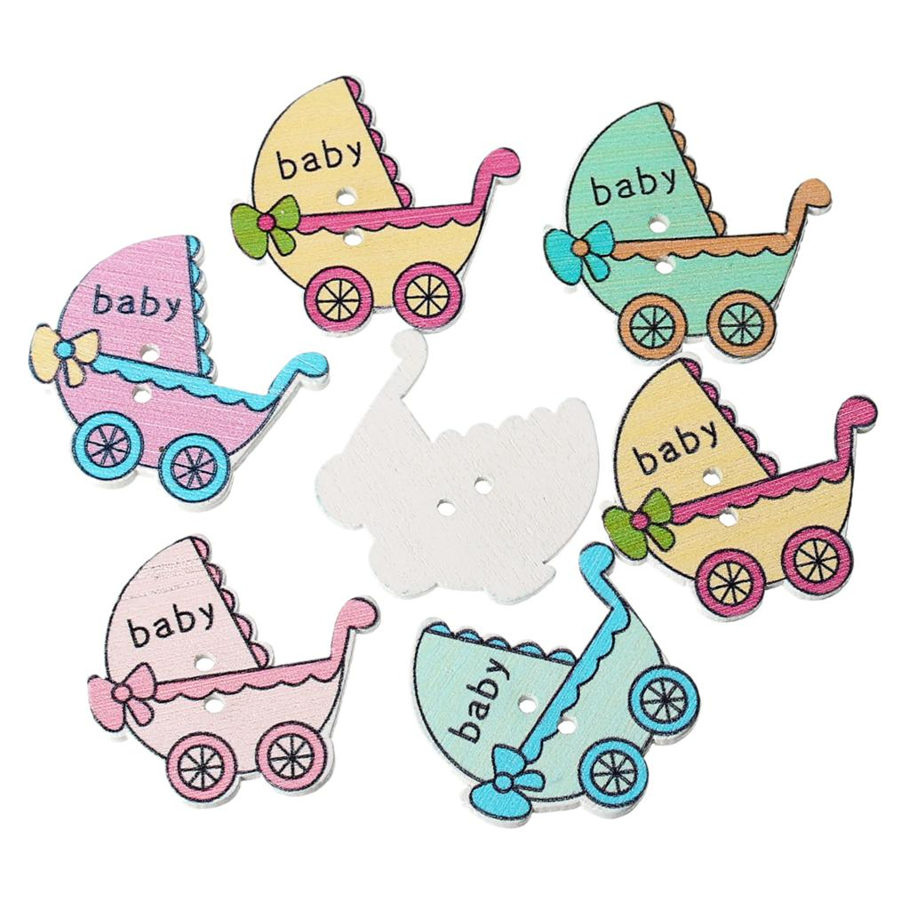 """Гаджет  Wood Sewing Button Scrapbooking Baby Carriage Mixed 2 Holes 3.4cm(1 3/8"""")x 3.2cm(1 2/8""""),6 PCs 2015 new None Дом и Сад"""