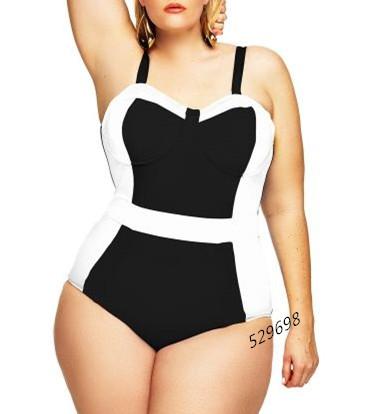 Hot 2016 Women Sexy One Piece Swimsuit Swimwear Tank Black White Bathing Beach Suits Large Big Plus Size XL 2L 3L(China (Mainland))