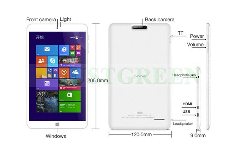 members v820w windows 8 1 tablet pc 8 inch 1280x800 quad core 2gb ram / 32go hdmi net, send, receive