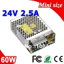 Buy MS-60-24 60W 24V 2.5A Mini size LED Switching Power Supply Transformer 110V 220V AC DC output for $12.55 in AliExpress store