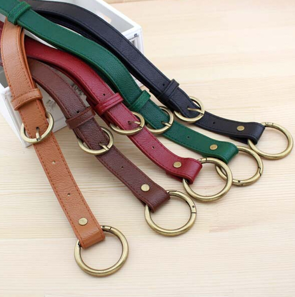 5 pcs/lot bag belt with buckles adjustable shoulder bag straps PU leather handles handbag accessories DIY bag pu strap SQ180(China (Mainland))