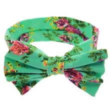 Buy 1 PCS Baby Kids Girl Children Toddler Infant Print Flower Floral Bow Hairband Turban Knot Rabbit Headband Hair Band Accessories for $1.10 in AliExpress store
