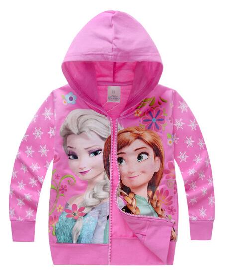 hot sale 2015 new autumn Elsa Anna girls clothes long sleeve children hoodies kids clothing sweatshirts