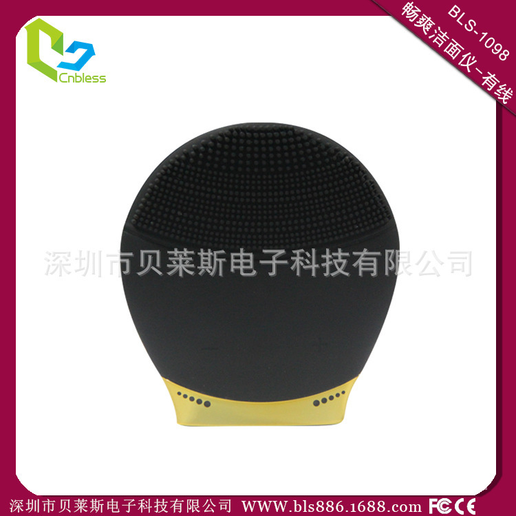 Silicone cleansing instrument / electronic beauty instrument / Women's cleansing device / electric massager face filter / beauty(China (Mainland))