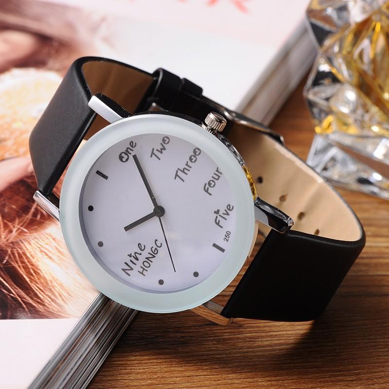 2016 New Fashion Watch Women Leather Strap Quartz WristWatch Casual Women Dress Watches Ladies Gift Relogio Feminino 9 Colors(China (Mainland))