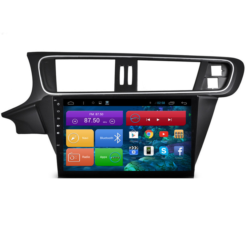 1024*600 Quad Core 10.2'' Android 4.4 Car Radio Player for Citroen C3 XR 2015 With Bluetooth 16GB Nand Flash 3G Wifi Map Card(China (Mainland))