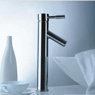 NEW Modern Chrome Bathroom Tall Faucet Vessel Sink Lavatory Basin Hot & Cold Water(China (Mainland))