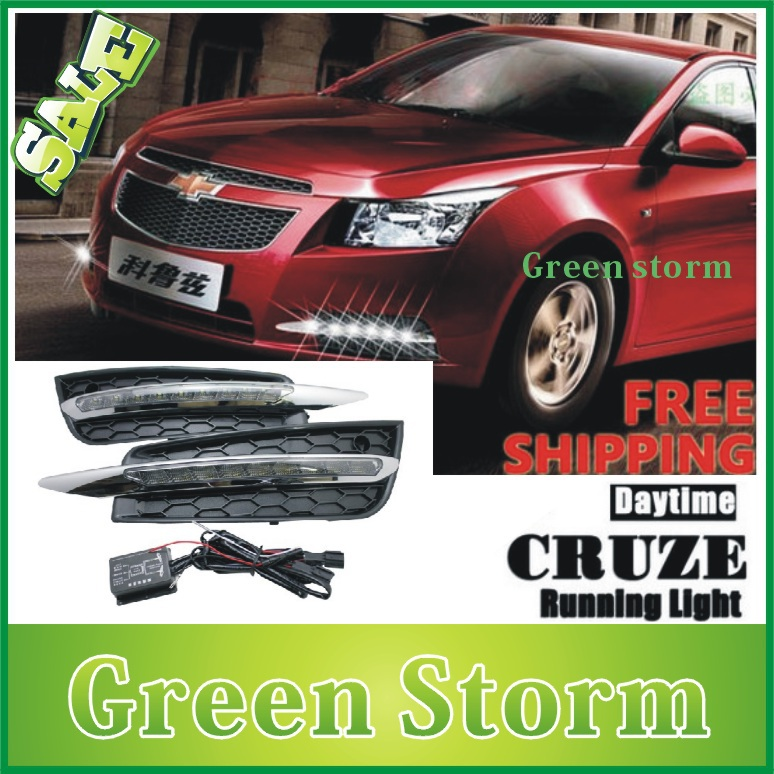 Chevrolet cruze 2009~2013 9 LED DRL Daytime Running Light TURN INDICATOR LIGHT, replacement fog lamp light - Green Storm Automobile Products co., LTD store