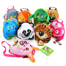 2016 New Pressure Shell Shoulders Backpack 3D Cartoon Child Cute Animal Kindergarten Baby  Bag Environmental Protection(China (Mainland))