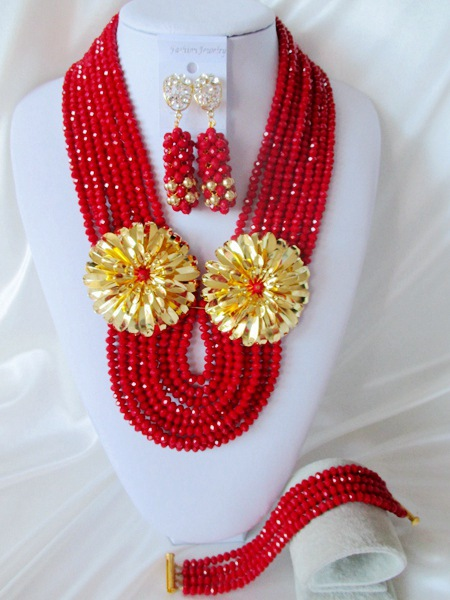 Classic new african beads Jewelry set crystal beads necklace set nigerian wedding african jewelry set free shipping  WI-2035<br><br>Aliexpress