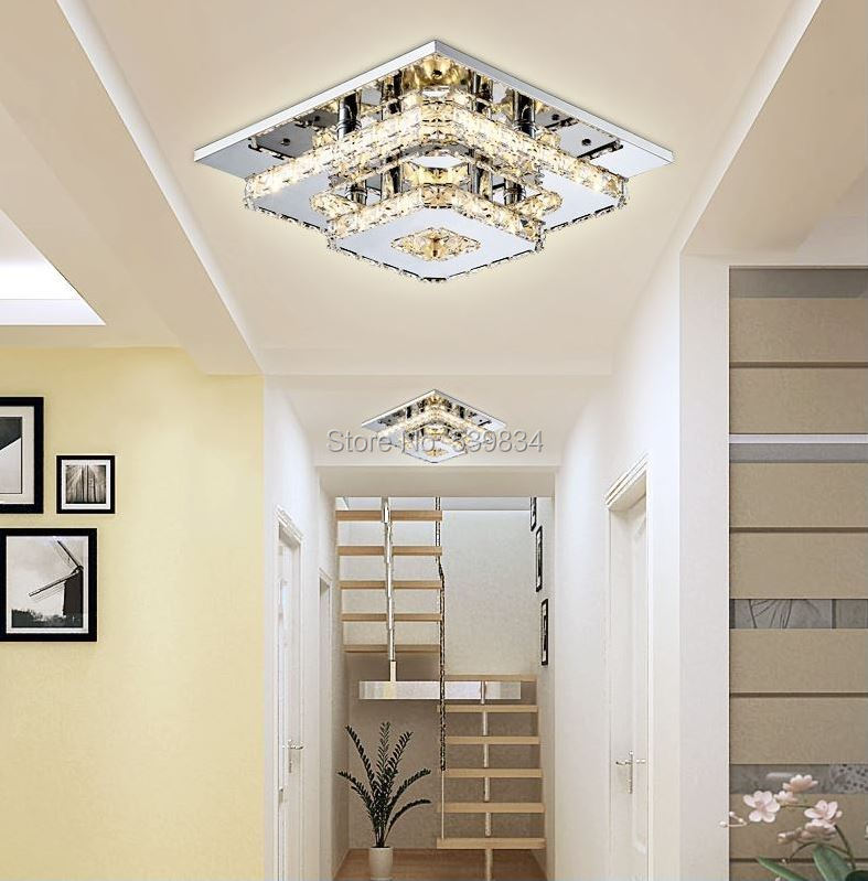 Free Shipping! New Arrivals Modern Crystal LED Ceiling lights 24W large in stock for aisle/hallway/Kitchen/Bedroom/Foyer zp8801(China (Mainland))