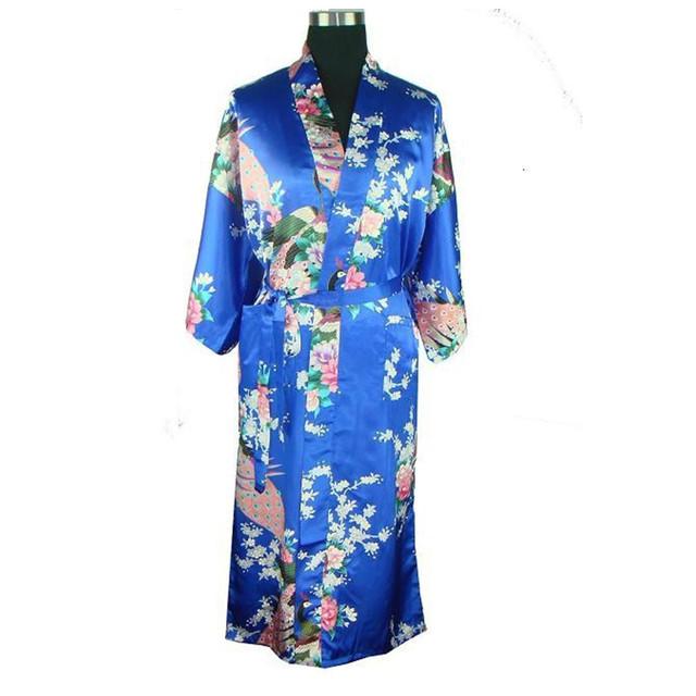 Бесплатная доставка китайских женщин шелковый район халат кимоно ванна платье ночная ...