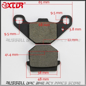 REAR FRONT BRAKE PADS 50cc - 250cc ATV Quad Go Kart most chinese Dirt Pit Bike scooter