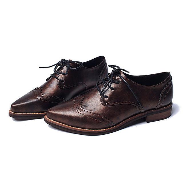 Резные кружева до оксфорд туфли для женщин-квартир новый 2016 мода женская обувь ...