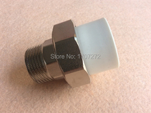 Free shipping Color White DN 40X11/4M Enviroment friendly plastic ppr Male union fittings(China (Mainland))