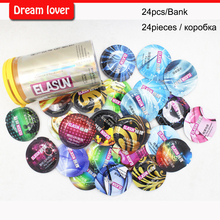 Original 24pcs/bank Elasun condoms man lifestyles 8 styles in one box condoms sex toy products for men fruit flavours super thin(China (Mainland))