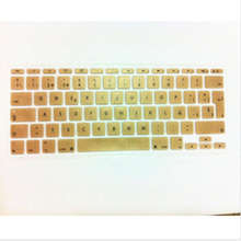 Metallic Gold Spanish UK EU Silicone Keyboard Cover Skin Protector For Apple MacBook Air 11.6 inch 11″ EU For Mac book 11″ 11.6