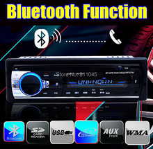 new Car Radio bluetooth Player MP3 FM/USB/one Din size/remote control/USB SD card port 12V Car Audio Steoro 5V cellphone charger(China (Mainland))