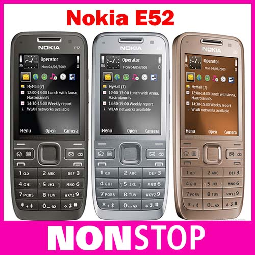 E52 Original Nokia E52 Unlocked Mobile Phone Bluetooth WIFI GPS 3G Cell Phone Russian Keyboard Refurbished(China (Mainland))