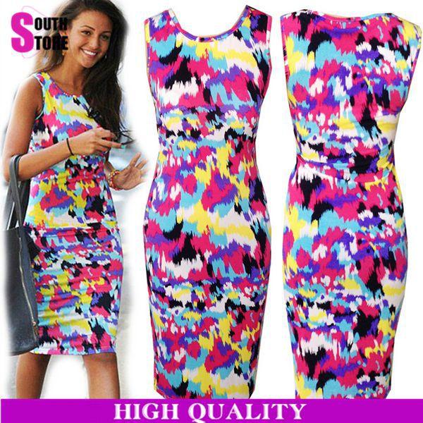 Plus Size Vestidos 2015 Women High Street Rainbow Color ... - photo #30