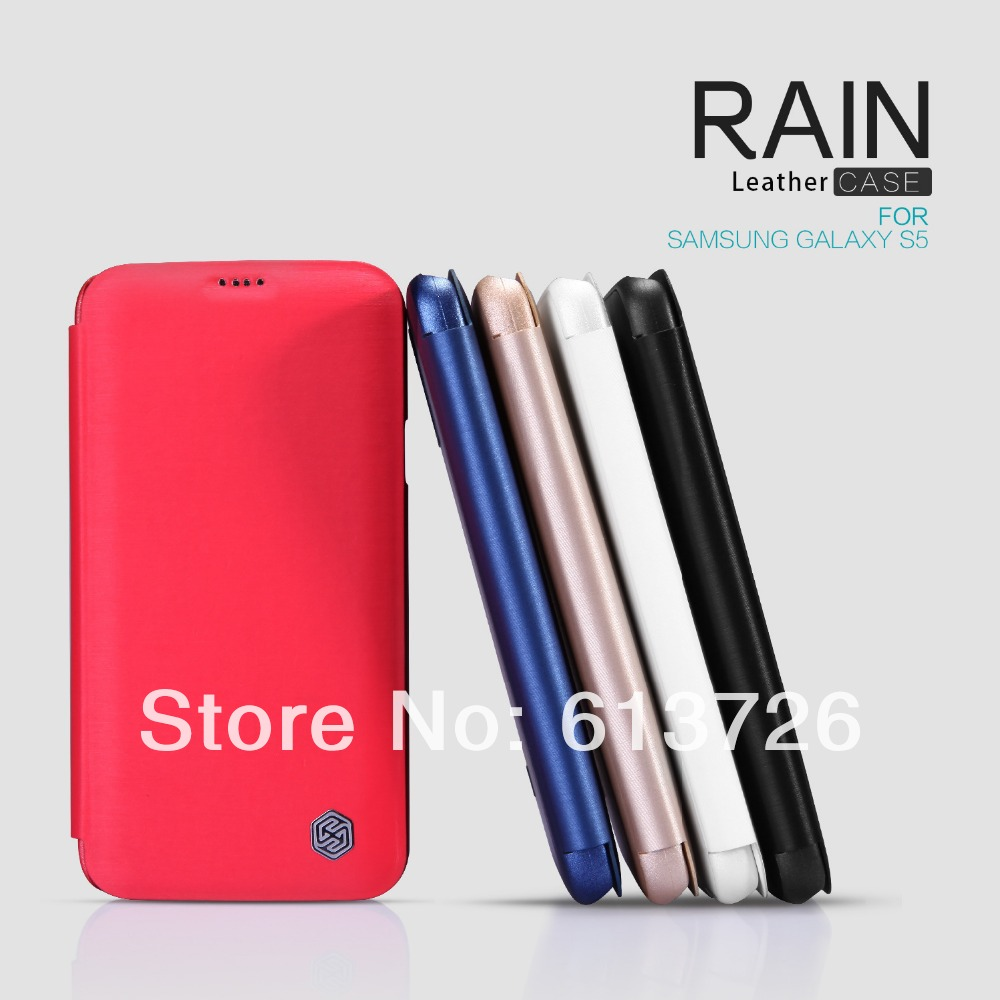 1 Brand Original NILLKIN Leather Case Rain Serial Phone Samsung S5/G900/I9600 - Shenzhen Green Electronics Co.,LTD store