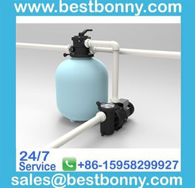 Swimming pool equipment - top mount pool sand pump filter with 6 way valve(China (Mainland))