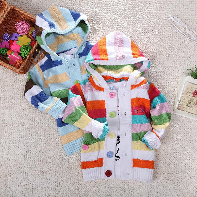 Girl hooded sweater chevron Stripe knitting patterns baby girl clothes new designer Crochet cardigan infantil menina agasalho(China (Mainland))
