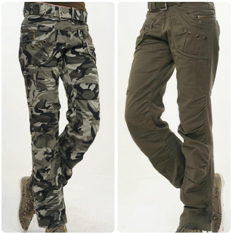 New women brand pants army Green Camouflage Casual pants camouflage pants for women(China (Mainland))