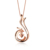 ZOCAI Love Forever Patent 0.08 CT Certified Diamond Phoenix Pendant 18K Rose Gold / 18K white Gold with 925 Silver Chain D00037