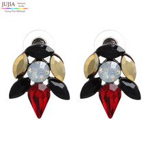 Factory Price Vintage Earrings 2016 New Retro crystal simple stud earring Women Jewelry Brincos(China (Mainland))