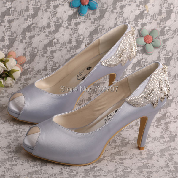 Здесь можно купить  Brand Name High Heeled Prom Silver Shoes Wedding Peep Toe New Style Pumps Brand Name High Heeled Prom Silver Shoes Wedding Peep Toe New Style Pumps Обувь