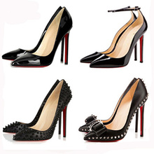 2015 Fashion Sexy valentine shoes zapatos mujer women shoes Red Bottom High Heels Women Pumps Nude Shoes Woman Plus Size 35-41(China (Mainland))