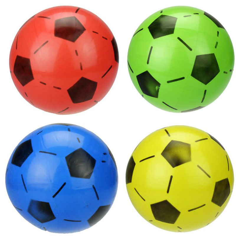 Plastic Toy Balls : Mixed color children sports inflatable plastic ball soccer