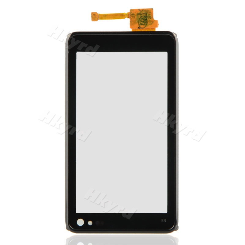 New Repair Touch Screen Digitizer+Front Cover Frame Fit For Nokia N8 Black B0103 T15