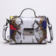 vintage doctor bags handbags women hot casual small shoulder bag snakeskin pattern cross messenger bag 2016 new muti color bag