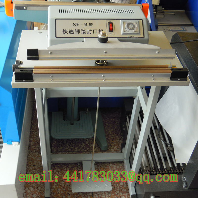 SF-300 foot-sealing machine Shrink film sealing cutting Bubble Food bag - TINKA MACHINERY HOUSE store