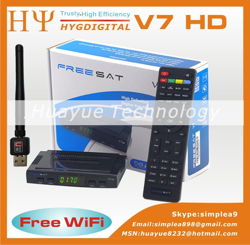 Genuine Freesat V7 HD Full 1080P Satellite Receiver 1PC USB WiFi DVB S2 Support Ccam