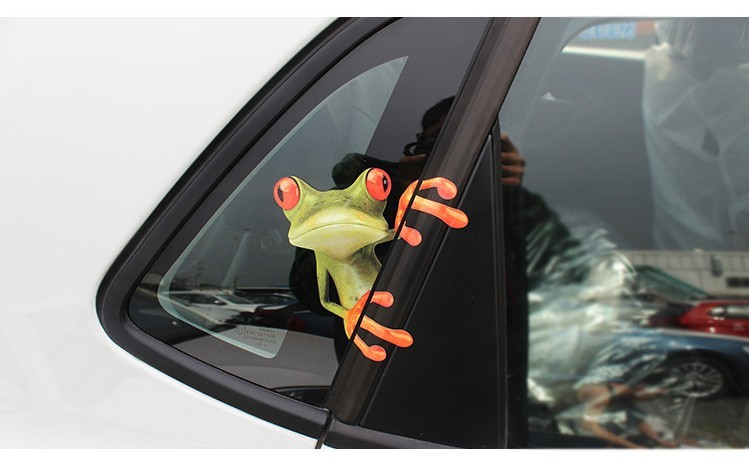 New arrival 3D Frogs Funny Car Stickers car styling vinyl decal sticker decoration High temperature & water Proof