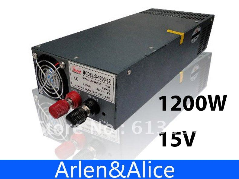 1200W 15V Single Output Switching power supply for LED Strip light AC to DC<br>