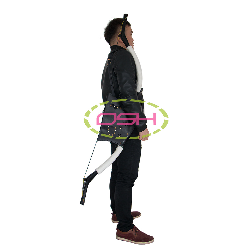 archery hunting bows and arrows bag quiver black leather bows arrows holder adult outdoor target shooting