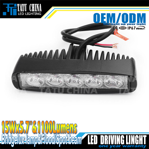 Free Shipping New 15W MINI LED Light Bar for offroad truck tractor LED Work Light SUV ATV 4X4 LED Driving Light(China (Mainland))