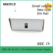 Миниатюрный din-рейки 48 В переменного тока питания MDR-40-48 40 Вт 0.83A импульсный источник питания от сети переменного вход сделано в китае