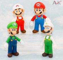 New 12CM Super Mario Bros PVC action figure toys Dolls Free shipping