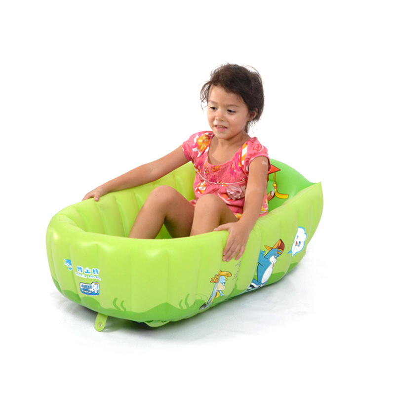 Home Use Baby's PVC Inflatable Square Bathing Tubs Newborn Baby's Lovely Tubs Anti-slip Baby Bathing Tubs Thicken And Safety(China (Mainland))