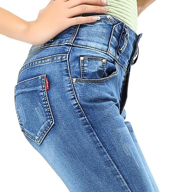 Весна женщины ноги брюки джинсы корейский версии европейский часть большие размер женщины a поколение жира джинсы